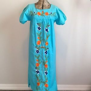 Mexican Embroidered Handmade Dress
